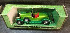 MATCHBOX - YESTERYEAR - 1931 METALLIC TWO TONE GREEN STUTZ BEARCAT CAR - Y-14