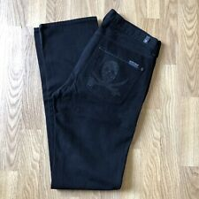 7 For All Mankind Black Slimmy Jeans With Skull Mens Size 32