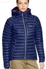 Rab Ladies Microlight Alpine Jacket. Bnwt. Rrp £180 Twighlight Blue/Fuschia. 10