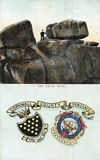POSTCARD   CORNWALL   PENZANCE   ARMS  &  The Logan  Rock