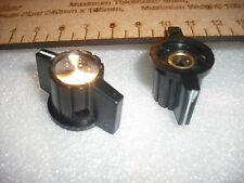 Silver centre indicator chicken-head pointer black amplifier radio control knob