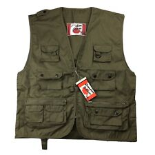 Canadian Outdoor Vest Mens XL Green Hunting Hiking Fishing Photo Zip Angler