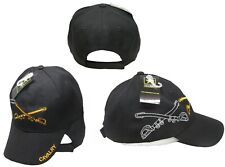 U.S. Army Cavalry Shadow Black Embroidered Cap Hat CAP615 (TOPW)