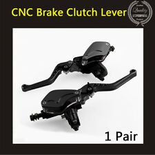 1 Pair Black CNC Heavy Duty Clutch + Brake Lever Set for Motorcycle Dirt Bike