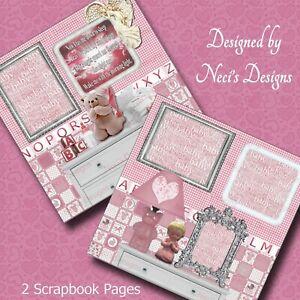 Girl Themed Scrapbook Set with Sleep Prayer - Handcrafted Art