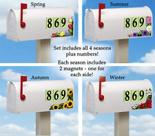 Fall Sunflowers Tulips Poinsettia Outdoor Address Mailbox Magnets All 4 Season