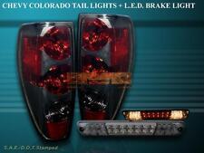 2004-2010 CHEVY COLORADO / GMC CANYON TAIL LIGHTS SMOKE+ 04-08 LED BRAKE LIGHT