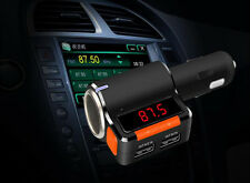Car Wireless Mp3 Player Handsfree Bluetooth With Dual Usb Charger+Fm Transmitter
