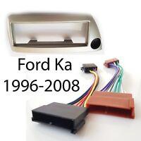 Radioblende für Ford KA 1996-2008 silber-metallic