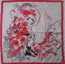 -Superbe foulard GUY LAROCHE soie   TBEG vintage scarf 77 x 80 cm