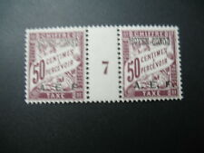 Congo Stamps French Colonies Taxe N° 7 b neuf * C:55 € paire millésime 7 à voir
