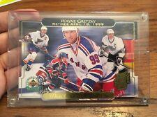 1999 Upper Deck Wayne Gretzky Retires Limited Jumbo Card Numbered in Case