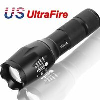 90000LM T6 LED Zoomable Tactical Military 18650 Rechargeable Flashlight Torch