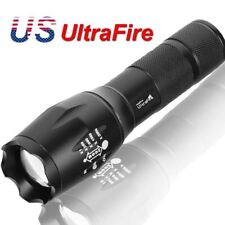 90000Lumens  T6 Zoomable Tactical Military LED 18650 Flashlight Torch Lamp Light