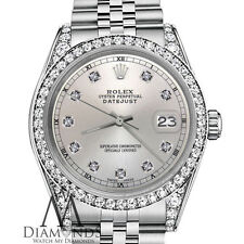 Women's Rolex Watch 31mm Datejust Stainless Steel Silver Color Diamond Face