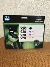 HP Officejet 920XL Black, 920 Cyan, Magenta, Yellow Combo Pack New Expired