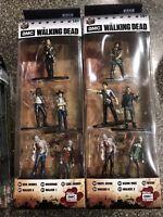 2x AMC The Walking Dead Jada Nano Metalfigs 5 Pack  Daryl Dixon Rick Grimes Glen