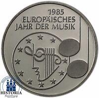 Deutschland 5 DM 1985 Stempelglanz Europäisches Jahr der Musik in Münzkapsel