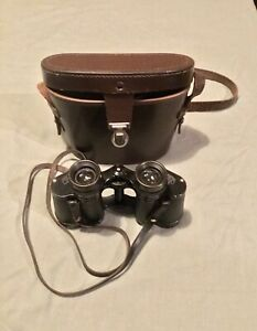 Vintage German Zeiss Deltrintem 8 x 30 Binoculars with Leather Case