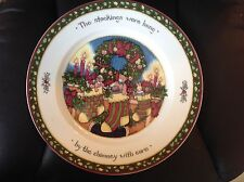 Susan Winget A Christmas Story Dinner Plate The Stockings Were Hung Series 1