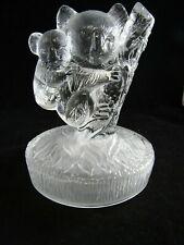 "Vintage Art Glass- Large Glass KOALA Bear with Baby Figurine ~ 4.5"" x 5.5"""