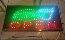 Open (BurgerSoda) Animated Led Business Plug-In Lightweight Sign Display w/Chain