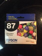 GENUINE EPSON 87 INK T087120 Photo Black Stylus Photo R1900 Use Before 5/2016