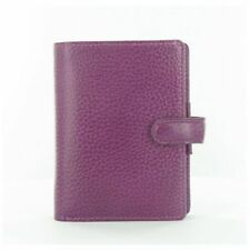 Filofax Finsbury Leather Pocket Size Organiser In Raspberry 025398