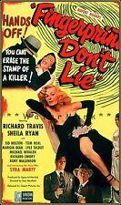 Fingerprints Don't Lie 1951 B Movie Film Crime Drama Vintage Poster Print
