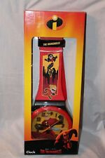 NEW  IN BOX THE INCREDIBLES WALL CLOCK 3FT