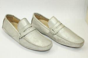 DOLCE & GABBANA men shoes sz 6 Europe 39 GRAY leather S8360