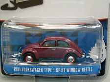 1951 Volkswagen Type 1 Split Fenêtre Beetle, bordeaux rouge, Greenlight 1:64