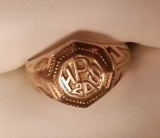 Antique 14K Gold High School Ring Circa 1920 - Good Condition - Ring Size 6.5