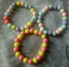 Kawaii Fairy Kei Bead Bracelet Set, Lolita, Cute, Pastel Goth, Kids, Handmade