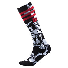 New Adult O'Neal Pro MX Socks Crossbones Black White MX Enduro One Adult Size