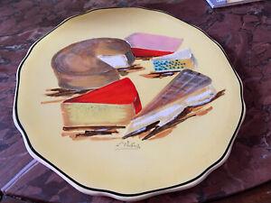 Longwy Normandie Signierte Kuchenplatte Künstler Teller France!!!!