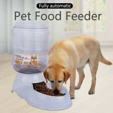 Pet Dog Cat Feeder Gallon Automatic Dispenser Eat Food Gravity Bowl Large