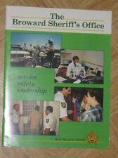 Broward Sheriff FL Florida Fla Book About Police Agency 1980's - Nick Navarro