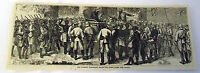 1882 magazine engraving ~ CAPTURE & DESTRUCTION OF KING COFFEE'S CAPITAL Africa