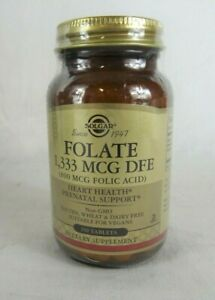 SOLGAR FOLATE 1,333 MCG DFE - 250 COMPRIMES - 09/2023