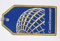 Continental Airlines Blue and Gold United Globe Logo Luggage ID Bag Tag Address