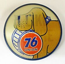 UNION 76 I LIKE BURNIE Gasoline lenticular Hydroplane flasher pinback button
