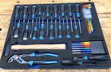Hazet Tool set In Storage Foam, screwdrivers, pliers etc.
