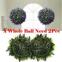 30cm Artificial Purple Lavender Topiary Ball Garden Hanging Flower Basket Plant