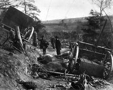 New 8x10 Civil War Photo: Battered Rebel Horses & Caisson at Fredericksburg