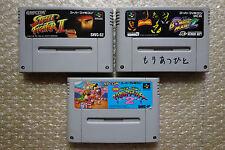 Street Fighter 2/Bomberman 2/Mickey 2 Set Cartridge Nintendo Super Famicom Japan