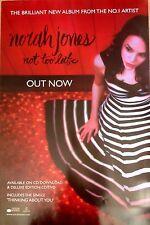 Norah Jones- Not Too Late - Rare Original Promo Poster - 30x20 Inches