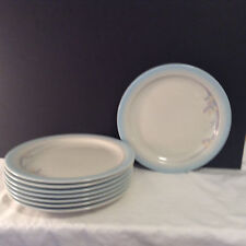 "Noritake Stoneware Made In Japan Rainbow End 8405 Dinner Plate Set of 8 10.5"" dm"