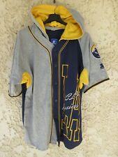 Maillot chemise à capuche baseball UCLA BRUINS STARTER gris bleu marine shirt M
