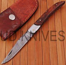 UD KNIVES CUSTOM HAND FORGED DAMASCUS STEEL POCKET FOLDING HUNTING KNIFE D-5770